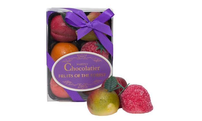 Groupon Goods Global GmbH: 1 ou 2 sets de 6 fruits déguisés aux amandes Marzipan Martin's chocolatier