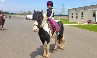 image for One or Two Children's Pony Riding Lessons with a Soft Drink at Mill House Riding Centre (Up to 44% Off)