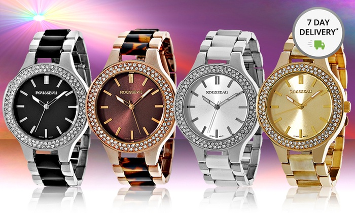 Rousseau Women's Watches: Rousseau Women's Andrea and Mela Watches. Multiple Styles from $29.99—$34.99. Free Returns.