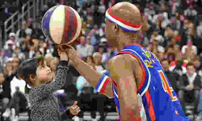Harlem Globetrotters - Downtown: Harlem Globetrotters Game at Pershing Center on Saturday, April 6, at 2 p.m. (Up to 45% Off). Two Options Available.