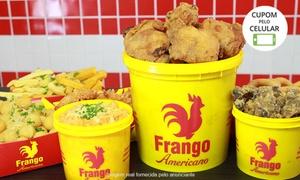 Frango Americano – Maceió: Frango Americano – Gruta de Lourdes:frango americano individual, pequeno, médio ou grande + acompanhamento e bebida