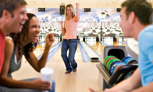 HPL Bowling Center: Bowling Night for Two or Four with Pizza at HP Bowling Center (Up to 58% Off)
