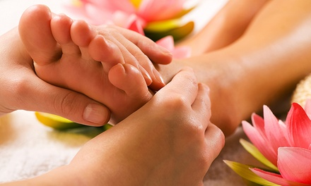 One or Two Reflexology Sessions for Chronic Foot Pain, or Foot Bath at Root Essence Reflexology (Up to 55% Off)