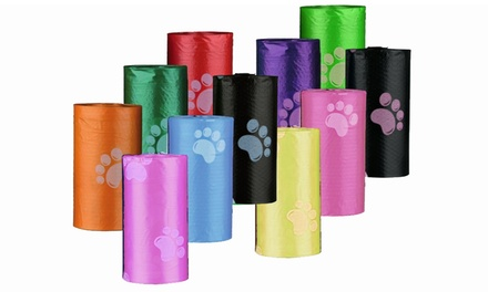 150 sacchetti per cani con osso porta rotoli