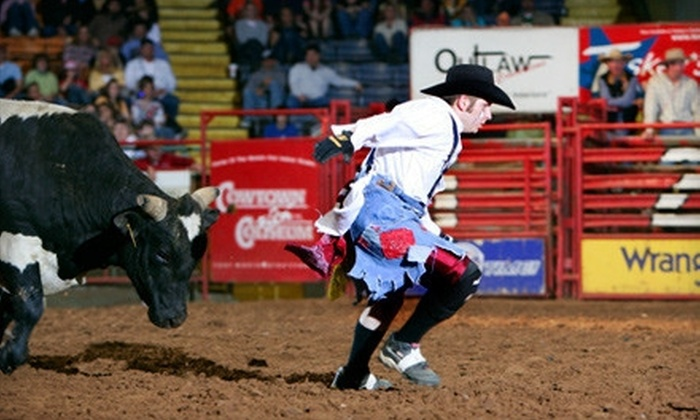 Stockyards Championship Rodeo - Fort Worth: Rodeo Visit for Two or a Family of Four at Stockyards Championship Rodeo (Half Off)