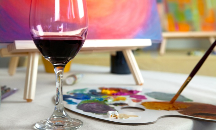 Paint and sip classes painting parties plus groupon for Groupon wine and paint