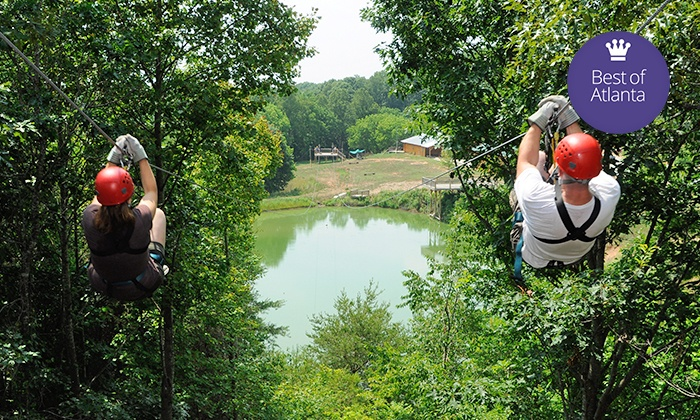 North Georgia Canopy Tours - Lula: Zipline Tour or Teepee Stay at North Georgia Canopy Tours (Up to 56% Off)