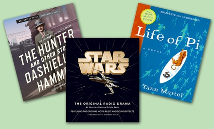 Fiction Audio Book on CD. Multiple Titles Available from $11.99–$12.99.