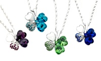 GROUPON: Swarovski Elements Clover Necklace Swarovski Elements Clover Necklace