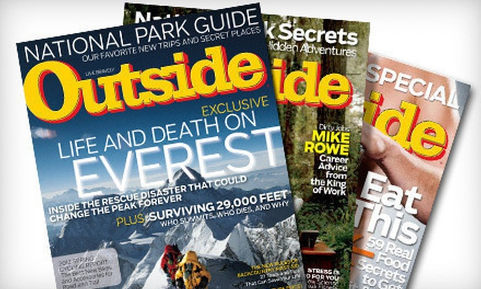 """Outside"" Magazine - Denver: $12 for a 12-Issue Subscription with Two Buyer's Guides to ""Outside"" Magazine and GoLite Water Bottle ($26.49 Value)"