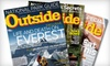 """""""Outside"""" Magazine: $12 for a 12-Issue Subscription with Two Buyer's Guides to """"Outside"""" Magazine and GoLite Water Bottle ($26.49 Value)"""