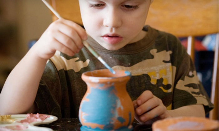 You Are The Potter - Greenwood: $15 for $35 Worth of Paint-Your-Own Pottery at You Are The Potter in Greenwood