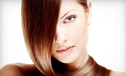 Haircut, Blow-Dry, and Style with Conditioning or Partial or Full Highlights at Salon Victoria (Up to 64% Off)