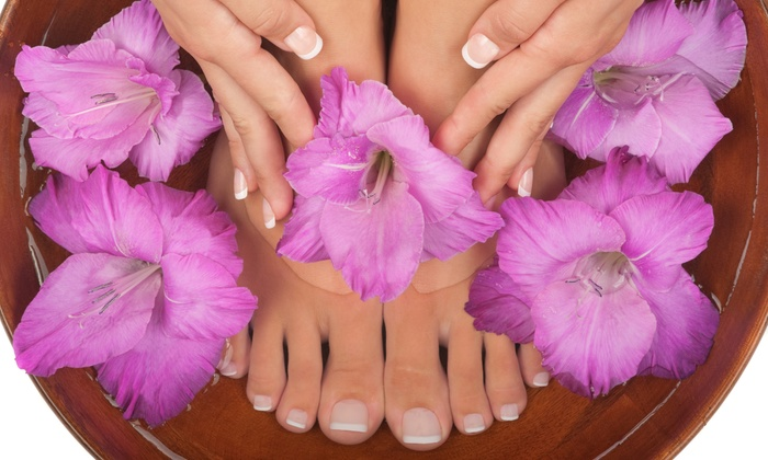 Heaven on Earth Spa - Central City: Express Mani-Pedi, Foot Therapy Treatment, or Mani-Pedi Package at Heaven on Earth Spa (Up to50%Off)