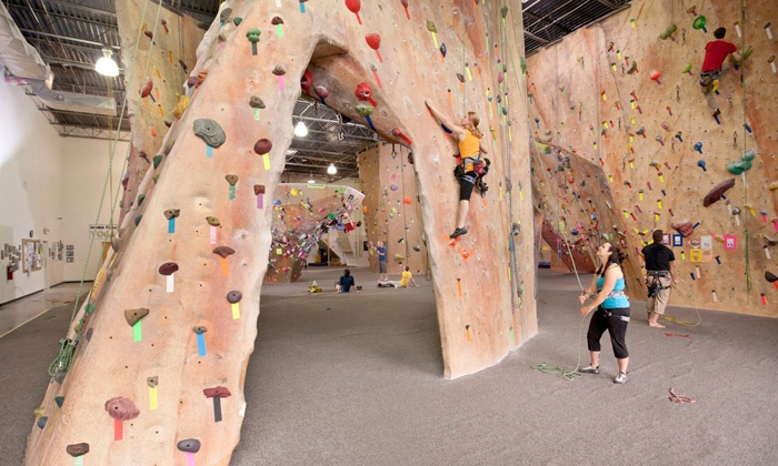 Inner Peaks - Charlotte: Indoor Rock-Climbing Package with All-Day Pass, Gear, and Lesson for Two or Four at Inner Peaks (Up to 50% Off)