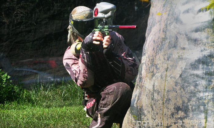 Drop Zone Paintball Park - Monmouth: Three Hours of Paintball with Equipment Rental for Two or Four at Drop Zone Paintball Park (Up to 58% Off)