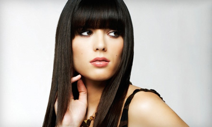 Fantastic Sams - Multiple Locations: Haircut, Style, and Full Color, or Blow-Dry Style, Eyebrow Wax, and $20 Worth of Products at Fantastic Sams (51% Off)