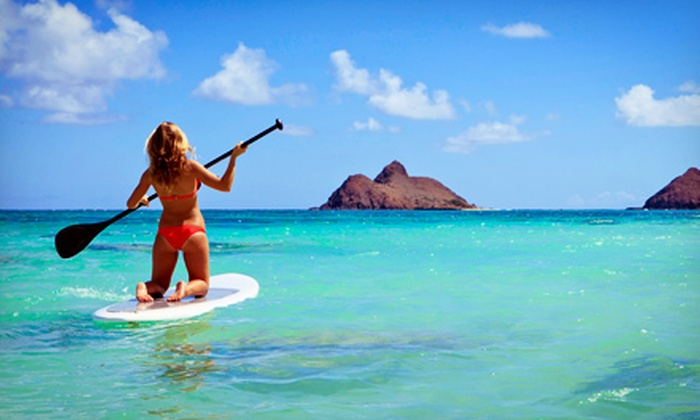 OEX Point Loma - San Diego: $45 for 90-Minute Beginner Stand-Up Paddleboarding Class for Two at OEX Point Loma ($90 Value)