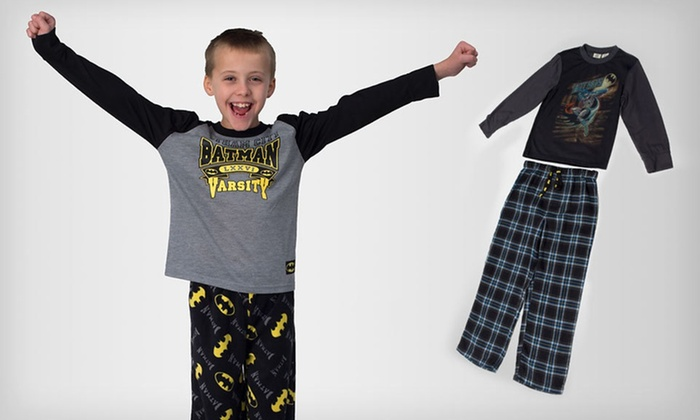 Boys' Two-Piece Superhero Pyjama Sets: $15.99 for a Boys' DC Comics Microfleece or Flannel Pyjama Sets ($34 List Price). Multiple Superheroes Available.