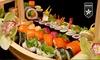 Barca di sushi e vino