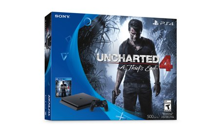 Sony Playstation 4 Slim 500GB Console Bundle with Uncharted 4