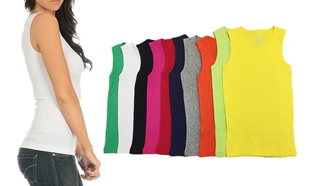 12-Pack of Women's Tank Tops in Assorted Colors