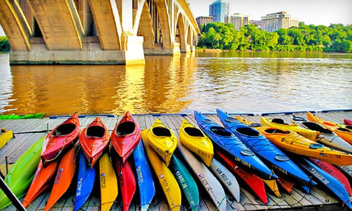 Key Bridge Boathouse - Key Bridge Boathouse: $39 for Four One-Hour Kayak, Double Kayak, or Stand Up Paddleboard Rentals from Key Bridge Boathouse (Up to $80 Value)