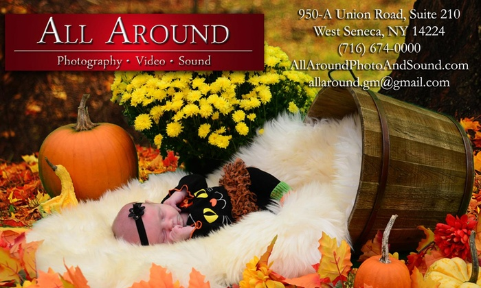All Around Photography, Video & Sound - West Seneca: 30-Minute Studio Photo Shoot from All Around Photography, Video & Sound (75% Off)