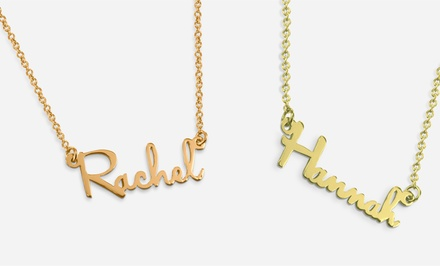 Personalized Mini Name Necklace in Sterling Silver from MonogramOnline.com