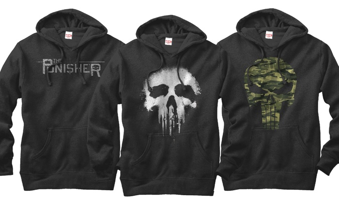 Marvel Punisher Men's Fleece Hoodies: Marvel Punisher Men's Fleece Hoodies