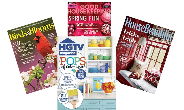 1 year subscription to magazines groupon goods for Home design magazine subscription