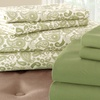 8-Piece Printed/Solid Microfiber Sheet Sets