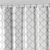 Fabric Shower Curtain Set with Liner and Roller Hooks (14-Piece)