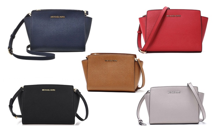 705606305a8d20 Up To 53% Off Michael Kors Selma Crossbody Bag | Groupon