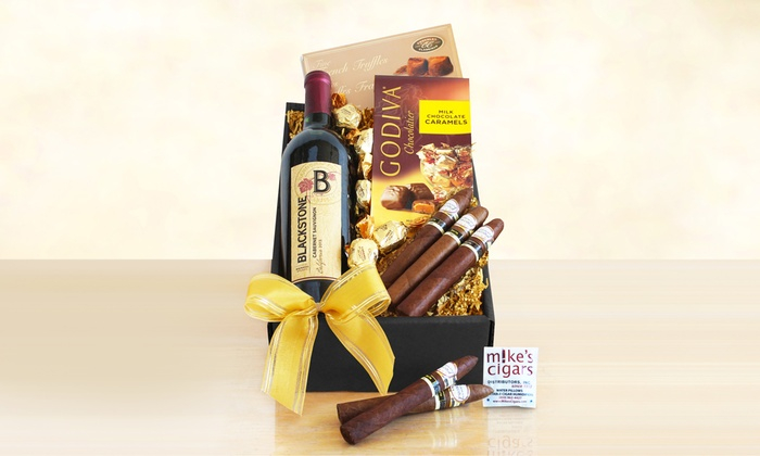 Wine and Cigar Gift Baskets