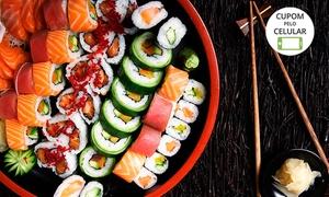 Oyabun Sushi Bar: Oyabun Sushi Bar – Jardim Botânico: combinado japonês com 60 peças para 2 pessoas