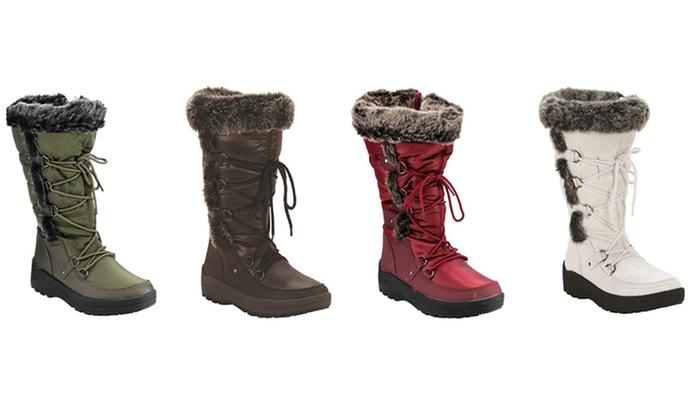 Women's Mata Waterproof Fur-Lined Snow Boots