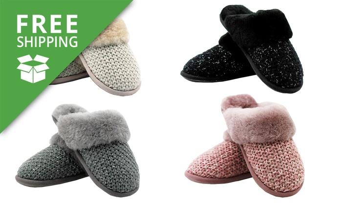 8feb136cd2e Waratah UGG Sheepskin Knit Scuffs | Groupon Goods
