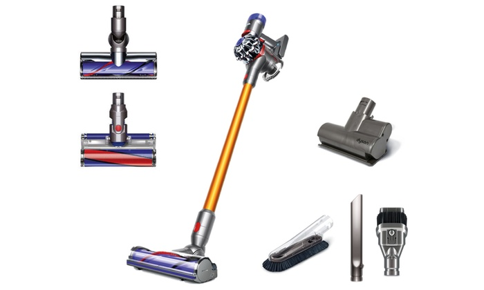 dyson v8 absolute cord free stick vacuum certified refurbished groupon. Black Bedroom Furniture Sets. Home Design Ideas
