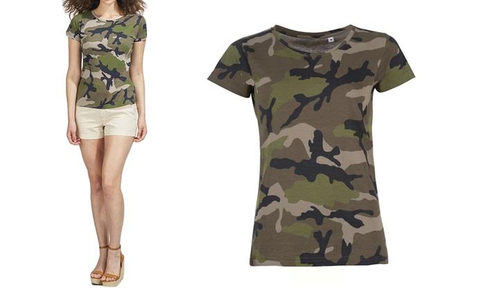 el más nuevo 025c9 71b6e Camiseta militar para mujer