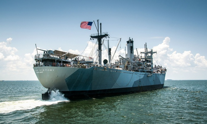 American Victory Ship Mariners Memorial Museum - Channel District: Memorial Museum Visit for Two or One-Year Companion or Family Membership (Up to 47% Off)