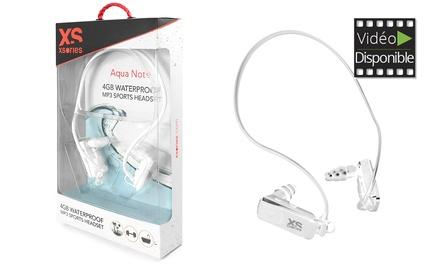 1 ou 2 casques audio MP3 étanches 4Go Aquanote by Xsories, Neufs et Garantis 2 ans