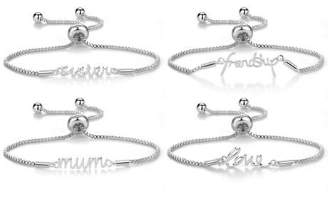1, 2 ou 3 bracelets message ornés de cristaux Swarovski® de la marque Philip Jones