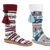 Muk Luks Women's Tall Slipper Socks