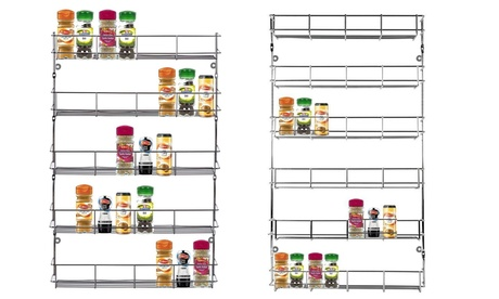 Five- or Six-Tier Stainless Steel Spice Rack