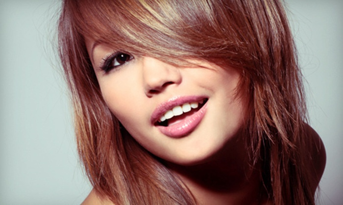 Twisted Scissors at Salons by JC - Far North Central: Haircut with Optional Partial or Full Highlights or Full Color at Twisted Scissors at Salons by JC (Up to 73% Off)