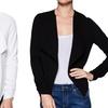 Women's Draped Collar Blazer with Zipper Accents