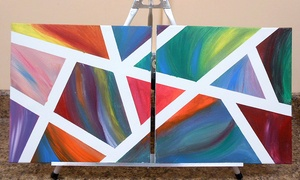Art Outing For Two, Four, Or Six With Canvas Painting And Glass-fused Pendant At Fired Up Pottery (up To 58% Off)