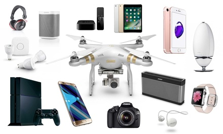 Elektronica mystery deal met kans op o.a. een bluetooth headset, tv of PS4
