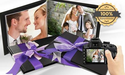 1, 2 o 3 álbumes A4 de cuero para fotos en distintos tamaños en PrinterPix (hasta 94% de descuento)